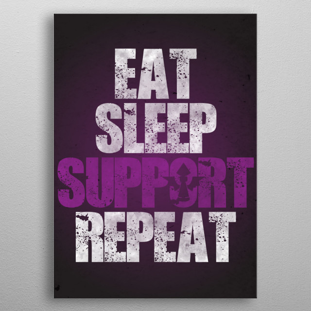 Eat Sleep Support Repeat metal poster