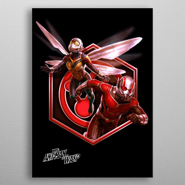 Hero Team-up metal poster