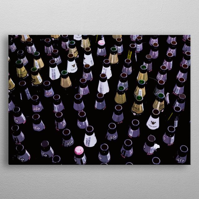 Beer bottle art metal poster