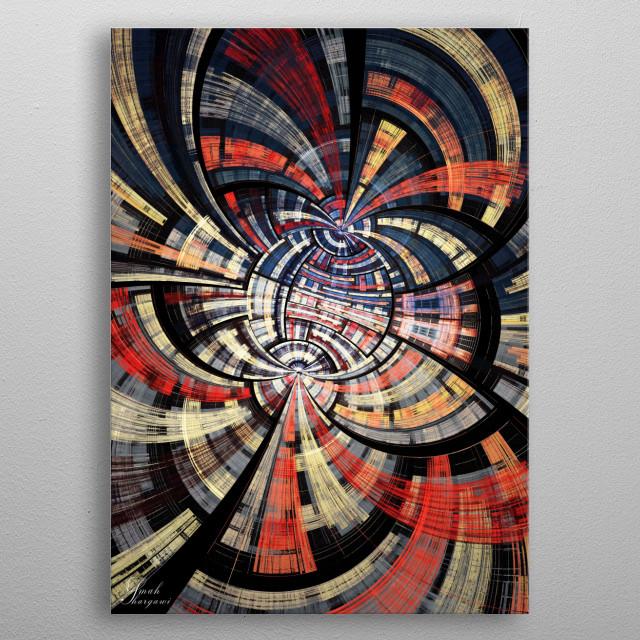 Collideoscope metal poster