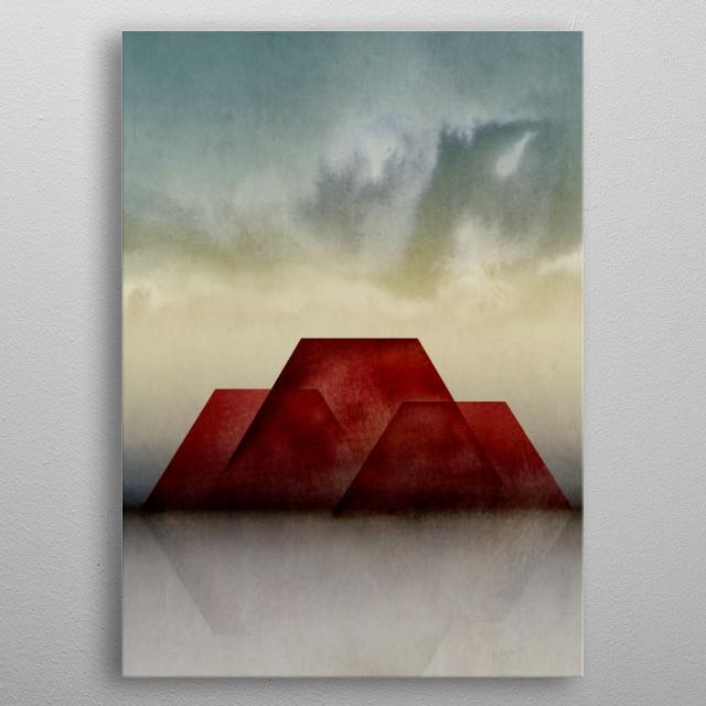 Minimal Landscape 21 metal poster