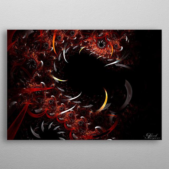 Dragon Smile metal poster
