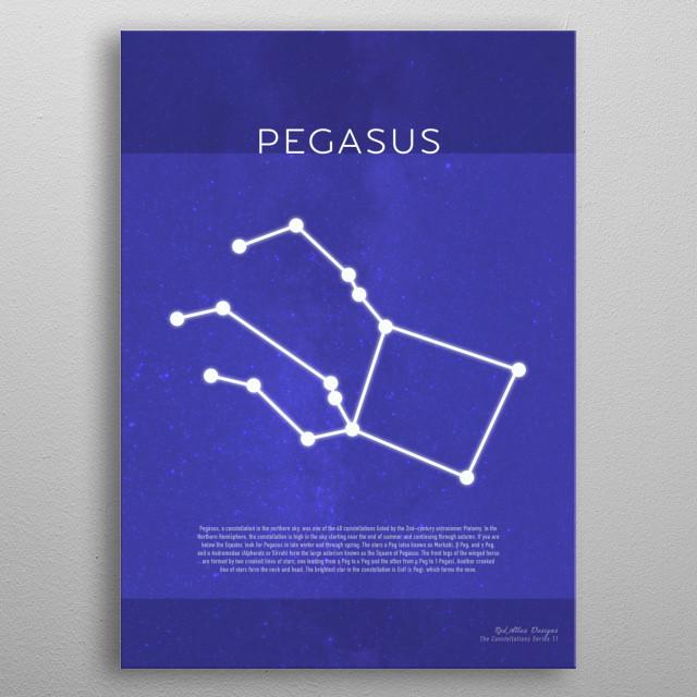 Pegasus The Constellations Minimalist Series 11 metal poster