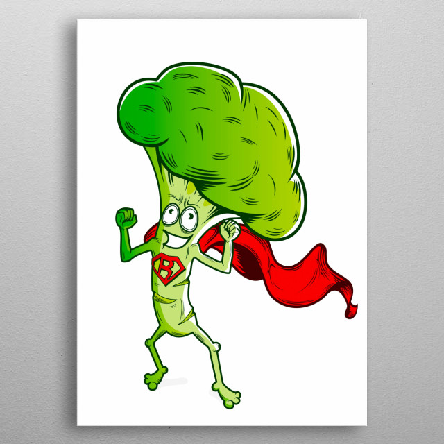 High-quality metal print from amazing Happy Vegetables collection will bring unique style to your space and will show off your personality. metal poster