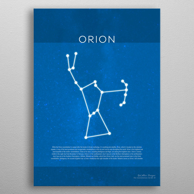 Orion The Constellations Minimalist Series 10 metal poster
