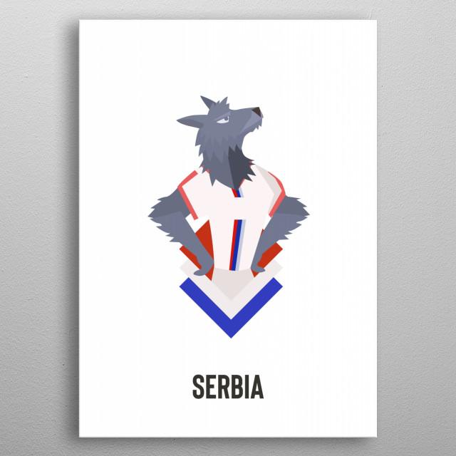 Serbia metal poster