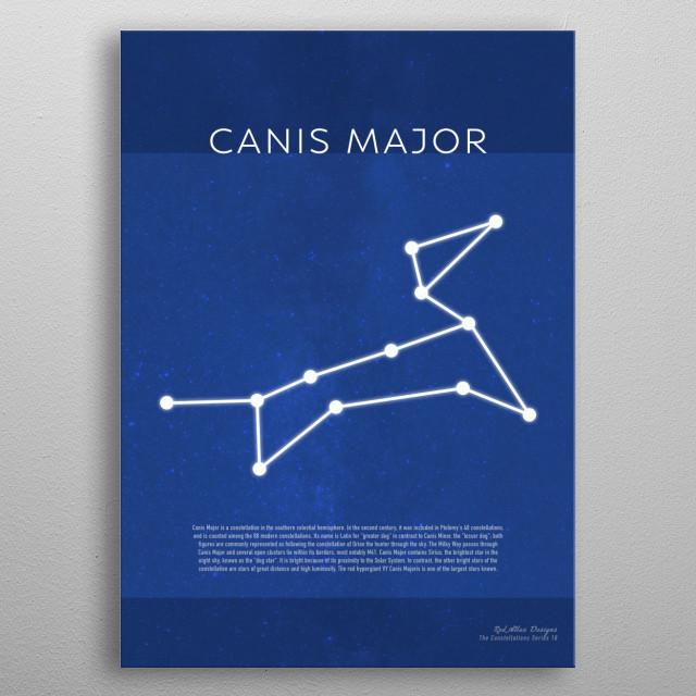 Canis Major Constellations Minimalist Series 18 metal poster