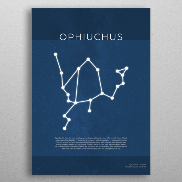 Ophiuchus The Constellations Minimalist Series 09 metal poster
