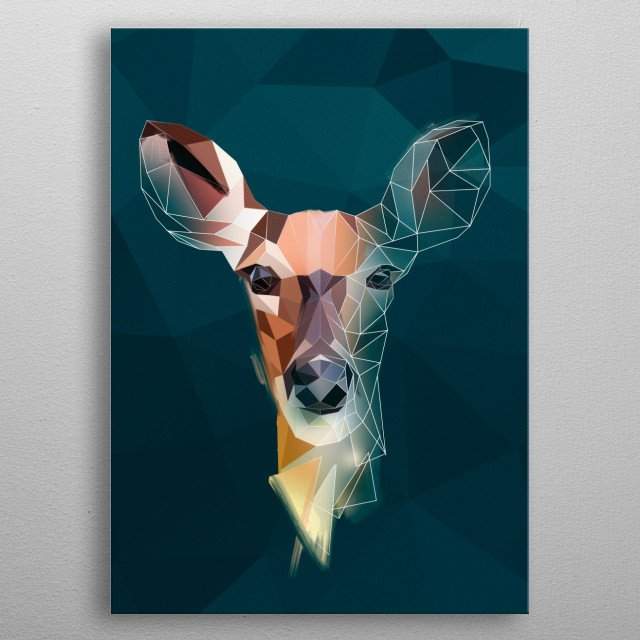 Deer - sketch metal poster