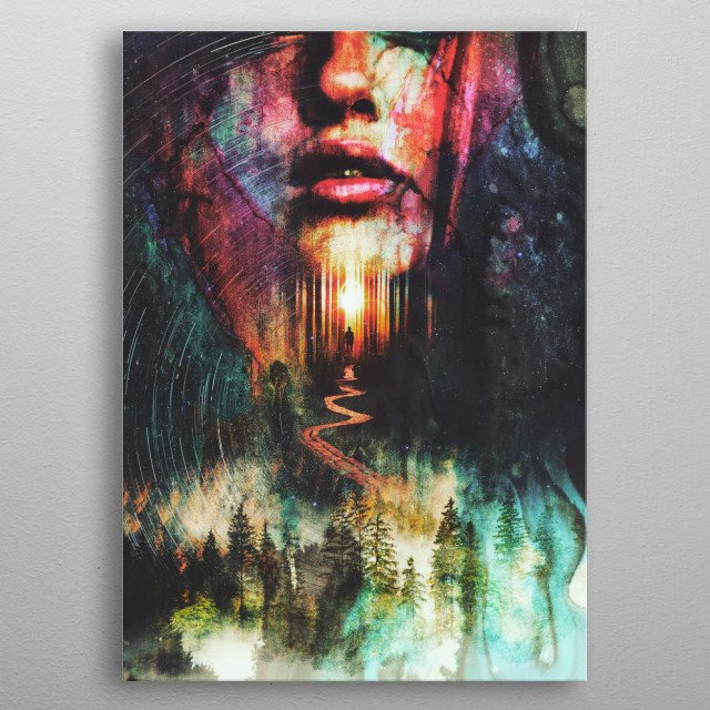 Fascinating metal poster designed by Barrett Biggers. Displate has a unique signature and hologram on the back to add authenticity to each design. metal poster