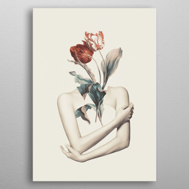 Inner beauty-collage metal poster