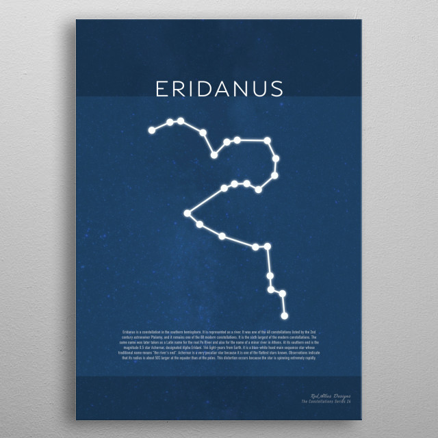 High-quality metal print from amazing The Constellations collection will bring unique style to your space and will show off your personality. metal poster