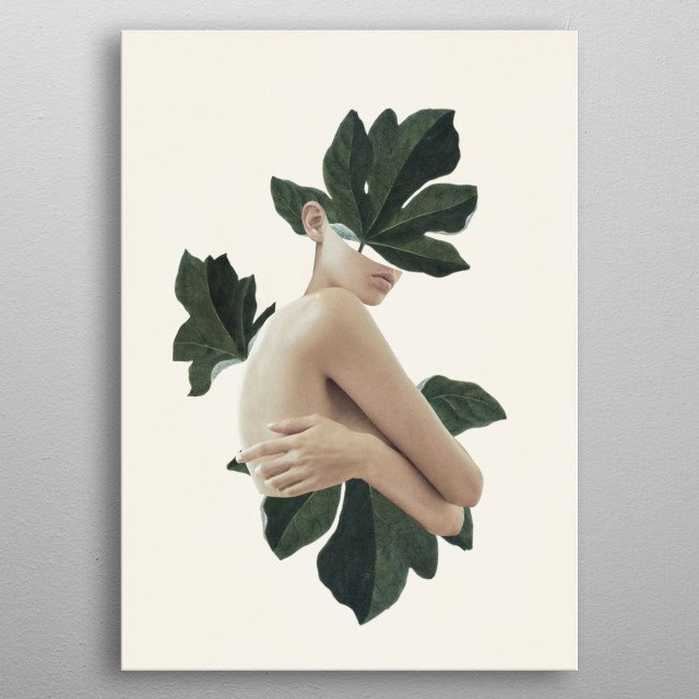 natural beauty-collage metal poster