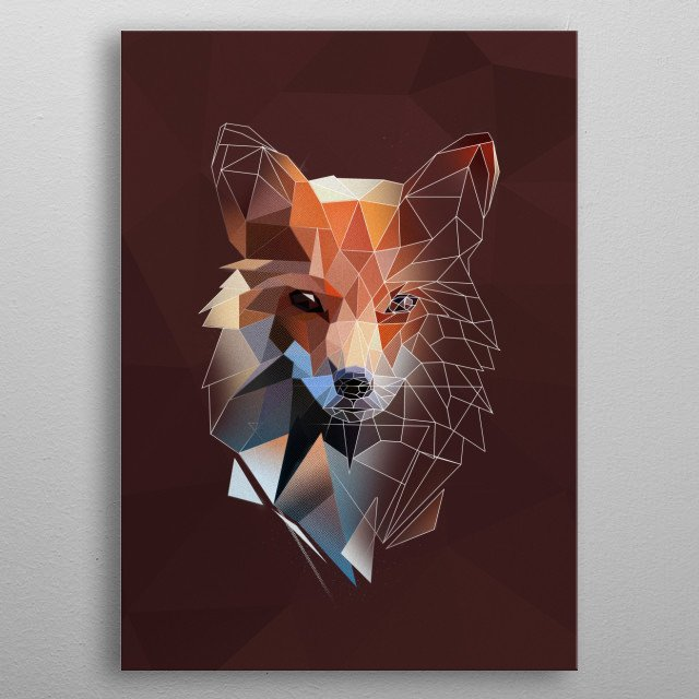 Fox - sketch metal poster