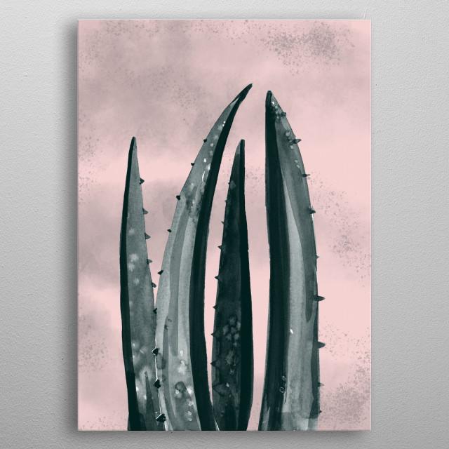 minimal plant9 metal poster
