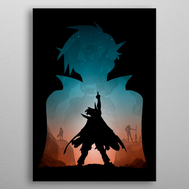 Team Gurren metal poster
