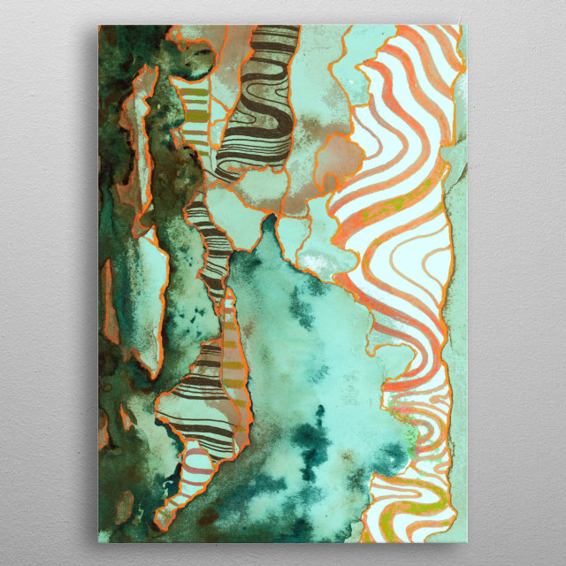 abstract 0 metal poster
