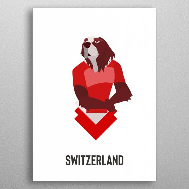 Switzerland metal poster