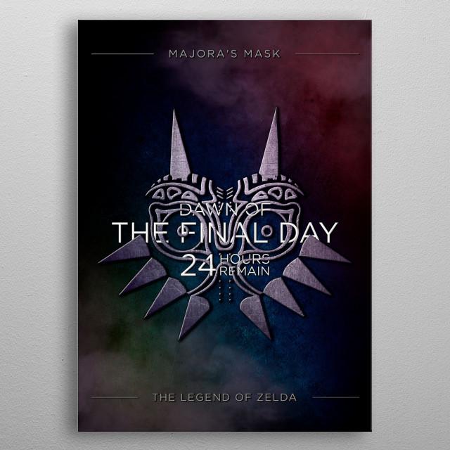 Majora's Mask  Script Art Collection  Typography Mix  metal poster