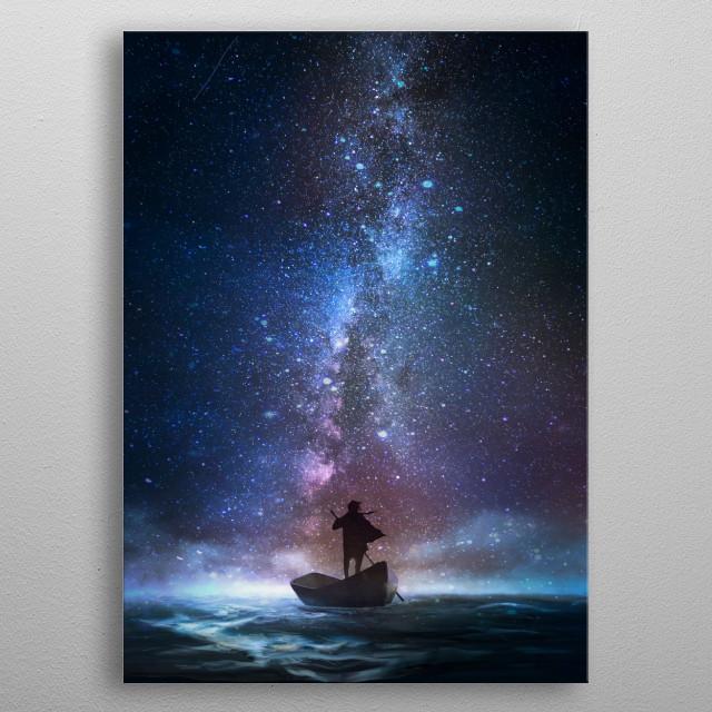 Night Dream Traveler metal poster
