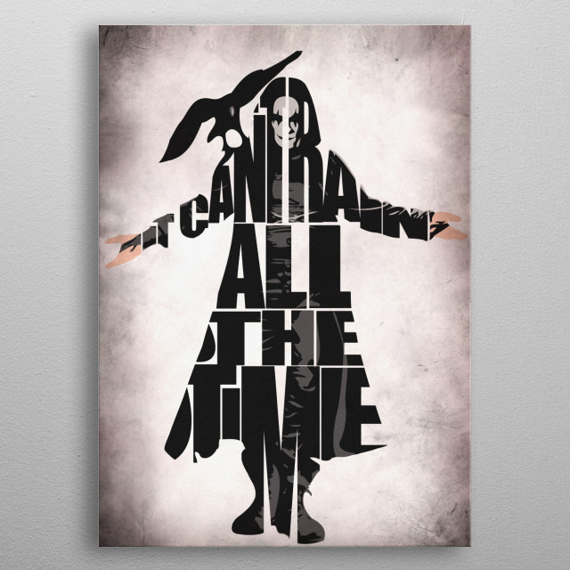 The Crow Typographic & Minimalist Illustration metal poster