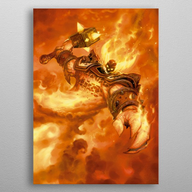 Ragnaros the Firelord metal poster