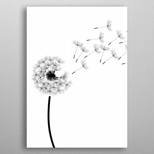 dandelion metal poster