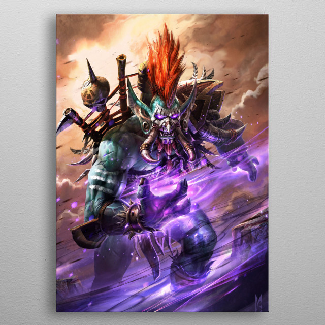 Vol'jin metal poster