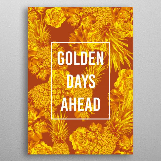 FLOWERS 6 GOLDEN DAYS metal poster