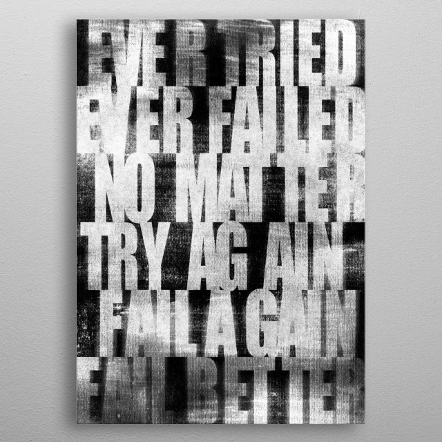 Wise Words from Samuel Beckett metal poster