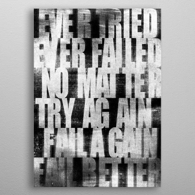 Wise Words from Samuel Beckett metal poster
