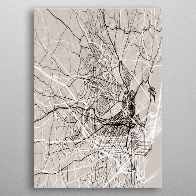 Fascinating  metal poster designed with love by ThinLine. Decorate your space with this design & find daily inspiration in it. metal poster