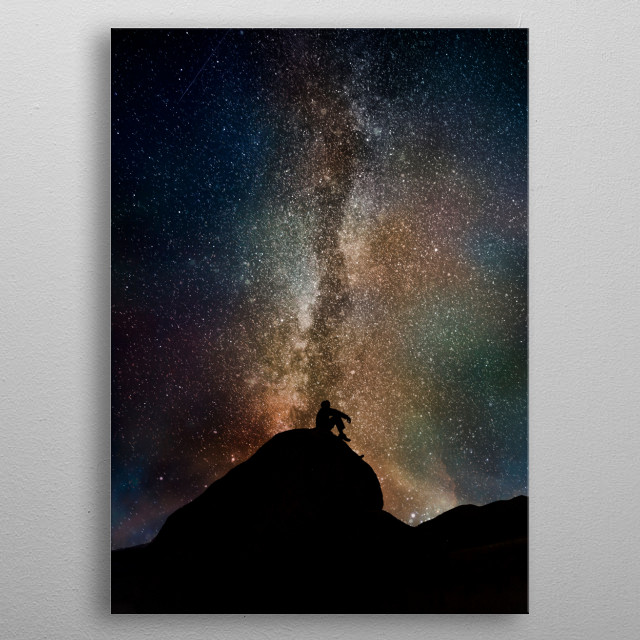 Cosmic view - featuring staryry sky metal poster
