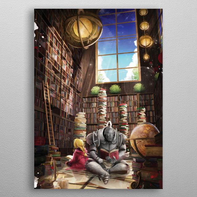 Fantasy Library metal poster
