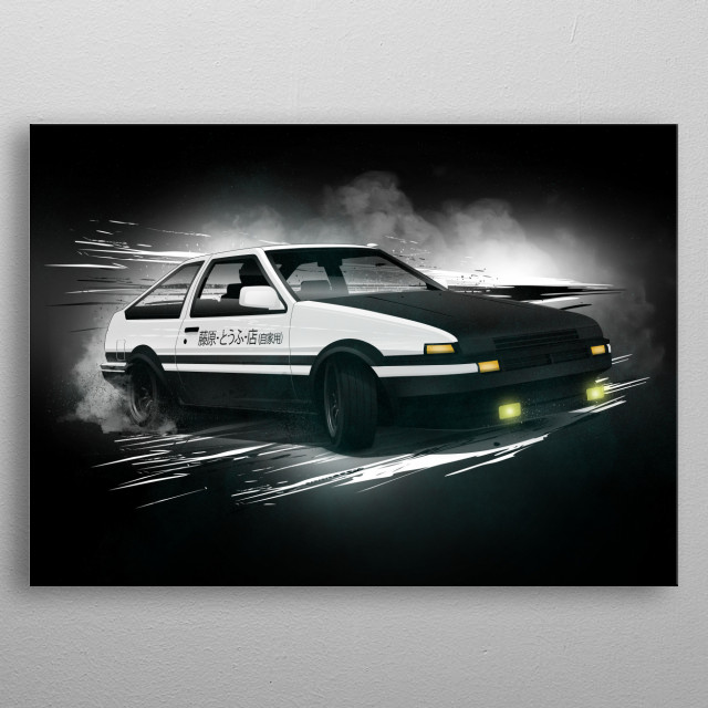 Toyota AE86. Hachiroku Trueno metal poster