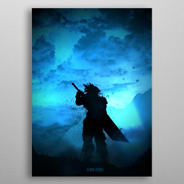 Cloud Strife metal poster