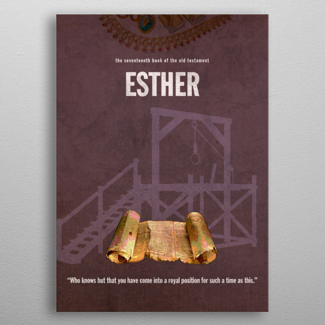 Esther Books of the Bible Minimalist Series metal poster