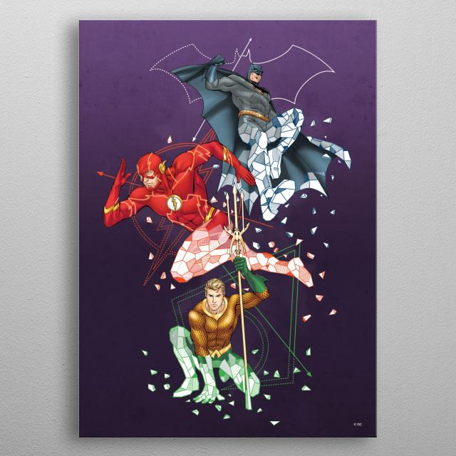 Superheroes  metal poster