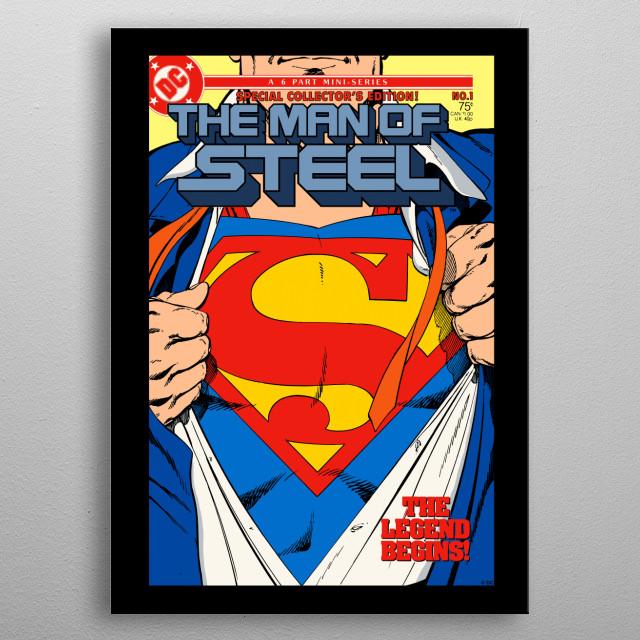 The Man of Steel metal poster