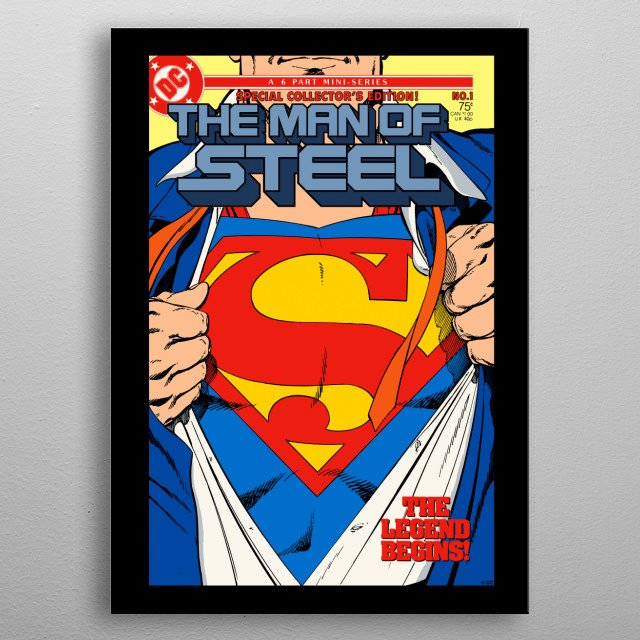 High-quality metal print from amazing Dc Comic Book Covers collection will bring unique style to your space and will show off your personality. metal poster
