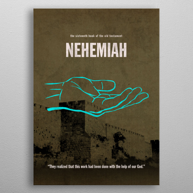 Nehemiah Books of the Bible Minimalist Series metal poster