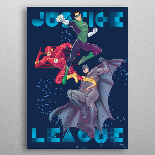 High-quality metal print from amazing Dc Justice League Youth collection will bring unique style to your space and will show off your personality. metal poster