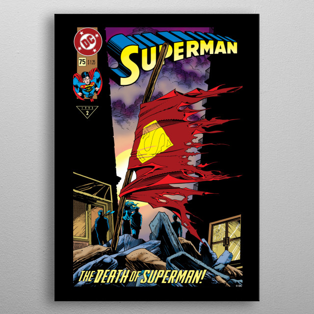 The Death of Superman metal poster