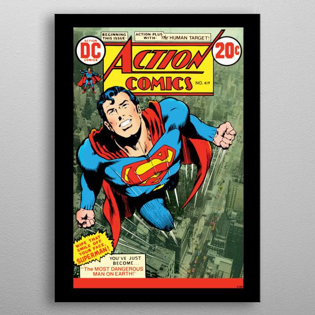Action Comics  metal poster