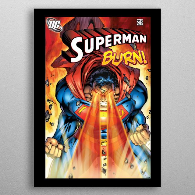Superman Burn  metal poster