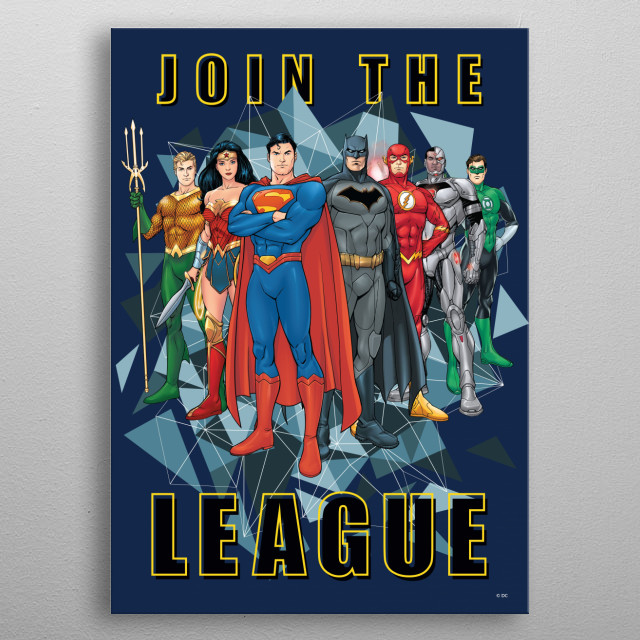 Join the League  metal poster