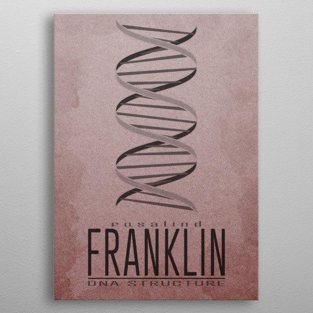 DNA Structure  Gallery quality giclée print on thick metal plate. Each Displate print is verified by the Production Master. Signature and ho... metal poster