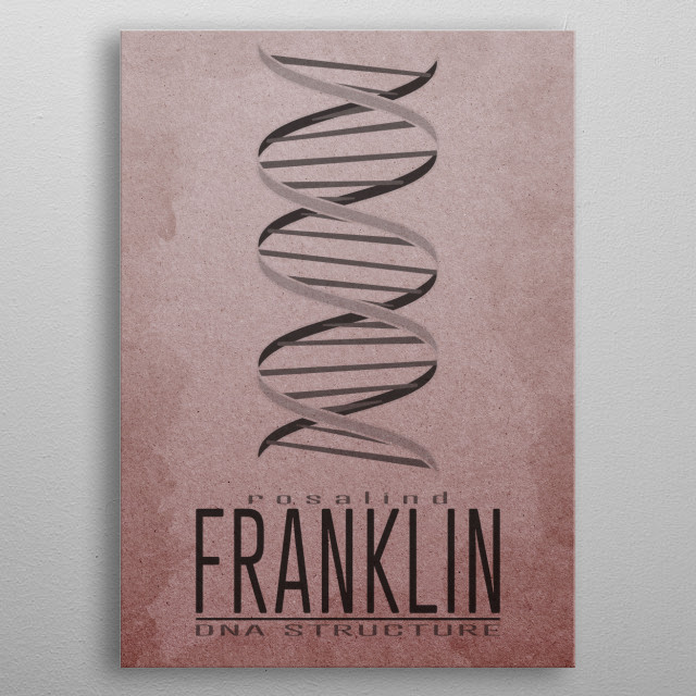 DNA Structure  Gallery quality giclée print on thick metal plate. Each Displate print is verified by the Production Master. Signature and hologram are added to the back of each print for added authenticity & collectors value. metal poster