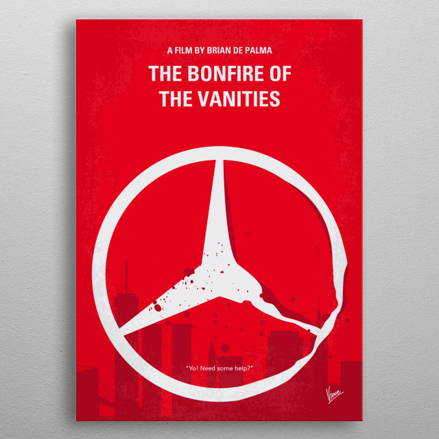No955 My The Bonfire of the Vanities minimal movie metal poster