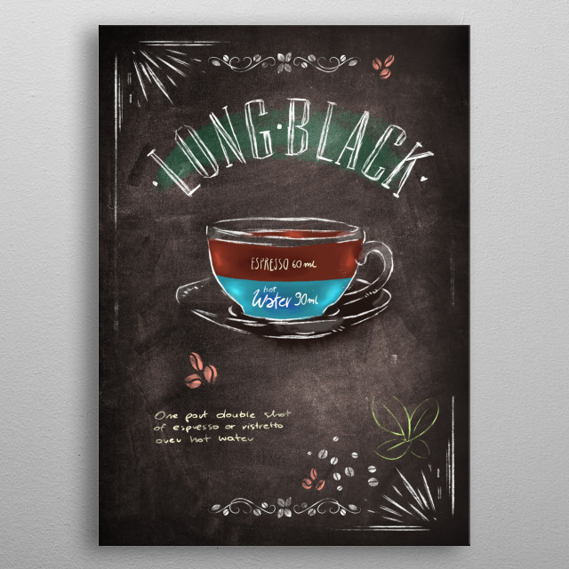 Coffee metal print metal poster